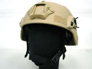 MICH TC 2000 ACH Helmet w/NVG Mount & Side Rail Tan