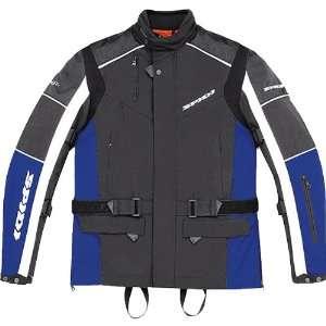Spidi Voyager Mens Textile Sports Bike Motorcycle Jacket   Black/Blue