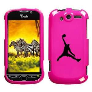 HTC MYTOUCH 4G BLACK AIR JORDAN ON A PINK HARD CASE COVER