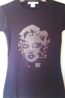 NEW MARILYN MONROE RHINESTONES BLING SHIRT *** SO CUTE
