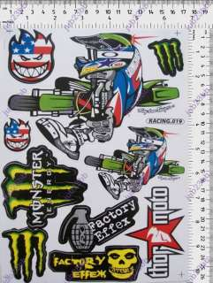 BIG MOTORCYCLE STICKER ATV DIRT BIKE BLACK RACING DECAL