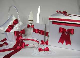 Apple Red Wedding Accessories Flower Girl Basket Box