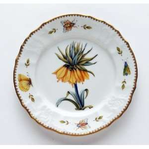Anna Weatherley Redoute 8 In Salad Plate   Yellow Flower