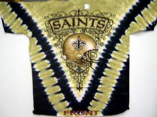 NEW ORLEANS SAINTS NFL FOOTBALL 2 SIDED TIE DYE T SHIRT NEW