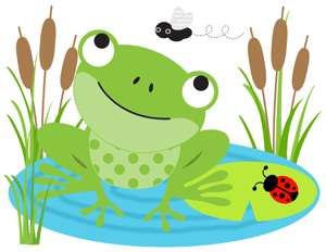 FROGS FROGGY LADYBUG BUGS BUTTERFLY NURSERY BABY WALL ART BORDER