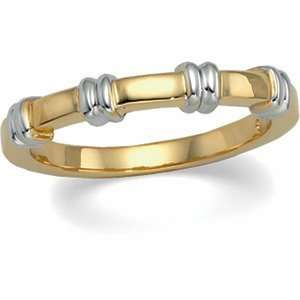 Gents 14K Yellow/White Gold Two Tone Duo Band Jewelry