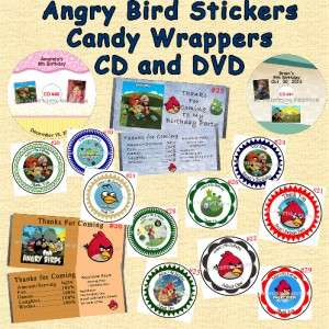 Angry Birds Birthday Invitations & Thank You Cards 20 each
