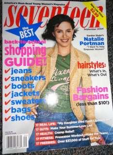 Seventeen 9/2004 Natalie Portman Adam Levine John Kerry