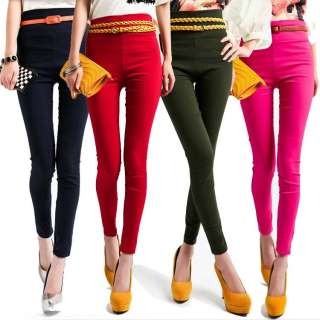 Womens High Waist Leggings Stretchy Pencil Pants/Trousers Free