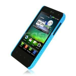 Ecell   SKY BLUE PERFORATED MESH BACK CASE FOR LG OPTIMUS