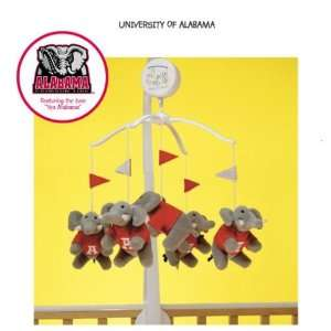 NCAA Alabama Crimson Tide Mascot Musical Baby Mobile