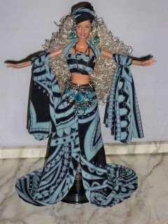 OOAK Black/Light Blue Gypsy Fantasy Barbie Artist Doll