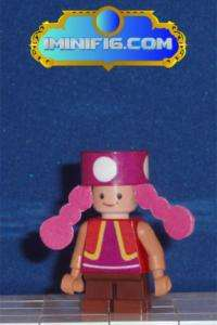 Custom LEGO Super Mario game figure Toadette