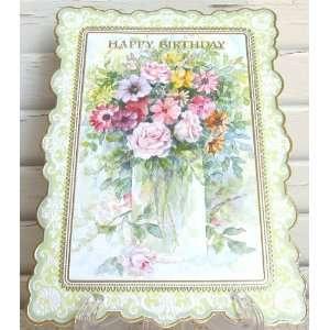 Carol Wilson Happy Birthday Card Feminine Assorted Vased