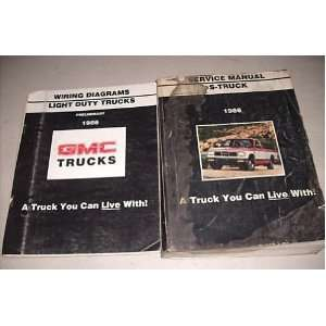 1986 GMC S Truck Service Shop Repair Manual Set Oem