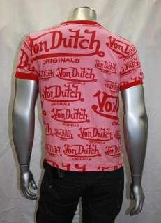 VON DUTCH RED SIGNATURE TEE SHIRT