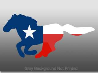 Texas Horse Shaped Flag Sticker Decal Quarterhorse