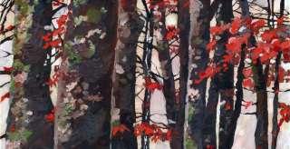 PRINT Landscape Trees Forest Woods Painting Art Zen