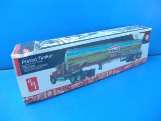 AMT 1/25 Fruehauf Tanker Texaco Truck Chrome Plated Semi Trailer