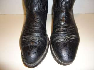 MENS NOCONA BLACK LEATHER WESTERN COWBOY BOOTS SZ 9.5 D