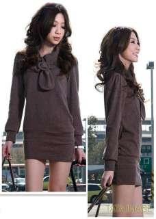 Brown NEW Japan NWT Womens Mini Dress Top US sz S