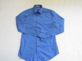 NWOT EXPRESS 1MX FRENCH BLUE EXTRA SLIM FIT DRESS MENS SHIRT, sz S