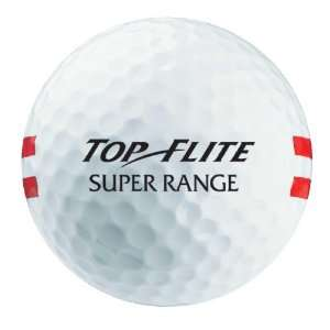 Top Flite Super Range Golf Balls (White/Double Red Stripe