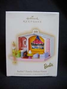 Hallmark Barbie Family Deluxe House 2007 Ornament 2 pc.