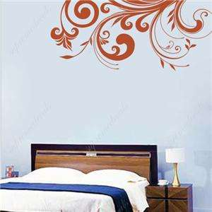 Modern Flower vine removable vinyl art wall decals home