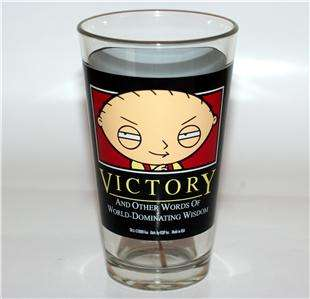 FAMILY GUY TV Animated Sitcom STEWIE PINT GLASS New