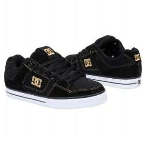 MENS DC SHOES BLACK/CURRY PURE SHOES 300660 NEW $80
