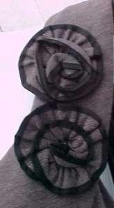 GRAY DRESS w FLOWERS Womens 20W Sandra Darren NWT 705776316736