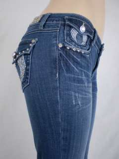 LA Idol Bootcut Jeans Crystal Angel Wings Flap Ptks1 13