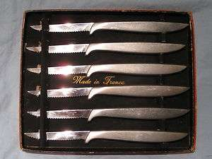 Set Of 6 Vintage French Stainless Steel Steak knives