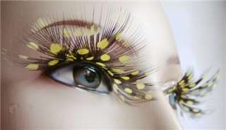 FEATHER False Lady Makeup Gaga Style Eyelash Eye Lashes