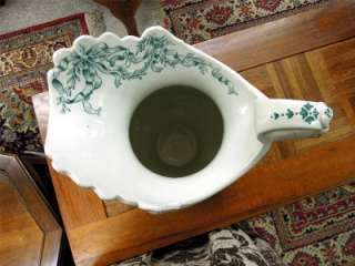ANTIQUE ORIGINAL POTTERY CHAMBER WASH BOWL AND PITCHER ~ DUDSON