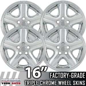 04 06 DODGE STRATUS 16 Chrome Wheel Skin Covers Automotive