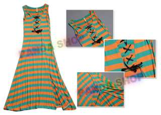 Korean Women Tank Top Full Length Maxi Dress Bandage Popular