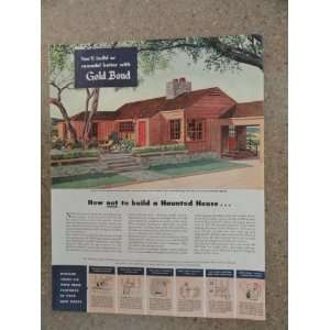 Gold Bond Homes, Vintage 40s full page print ad. (Home