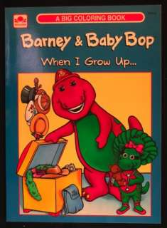 BABY BOP WHEN I GROW UP COLORING BOOK published by Golden Books in