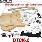 Solo DTCK 1 TC Style DIY Guitar Kit, Double Neck Guitar Kit
