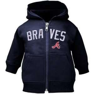 Atlanta Braves Toddler Navy Blue Emblem Full Zip Hoodie Sweatshirt