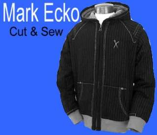 88 MARC ECKO Cut & Sew ZIP Faux FUR Hoody JACKET M