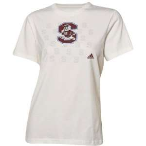 Carolina State Bulldogs Ladies White Inside The Lines T shirt Sports