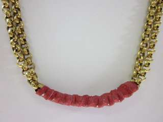 gold tone red leather necklace this amazing necklace is a must have
