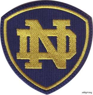 NCAA NOTRE DAME FIGHTING IRISH EMBROIDERED SEW ON PATCH