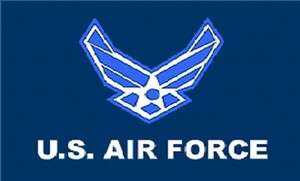 US Air Force Flag New Style Wings Logo 3x5 ft USAF Poly