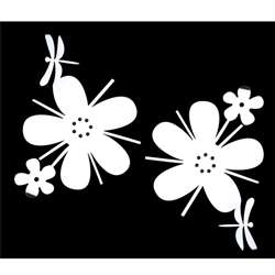 Flower/ Dragonfly Self Adhesive Acrylic Mirror Wall Decorations (Set