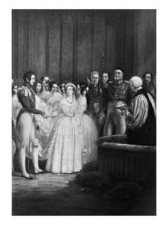 The Wedding Ceremony of Queen Victoria and Prince Albert on 10th