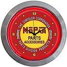 neon clock sign mopar chrysler parts service accesories man cave